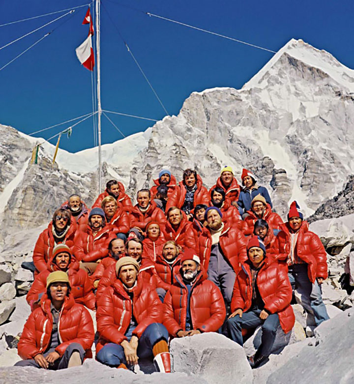 Integrantes de la primera expedición invernal polaca al Monte Everest, 1980. Foto: www.blogs.zherpa.com
