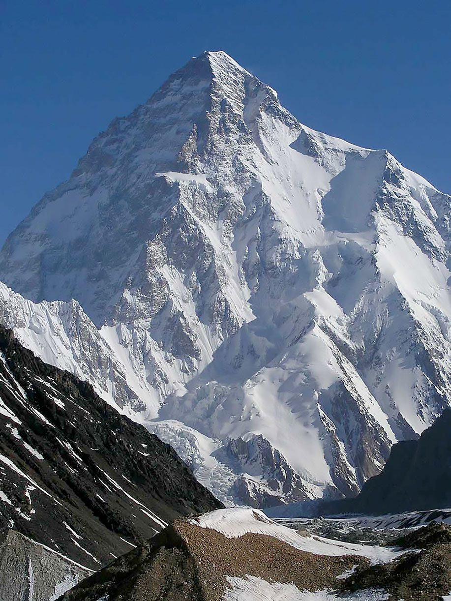 K2, Karakorum, Pakistán. Foto: wikipedia